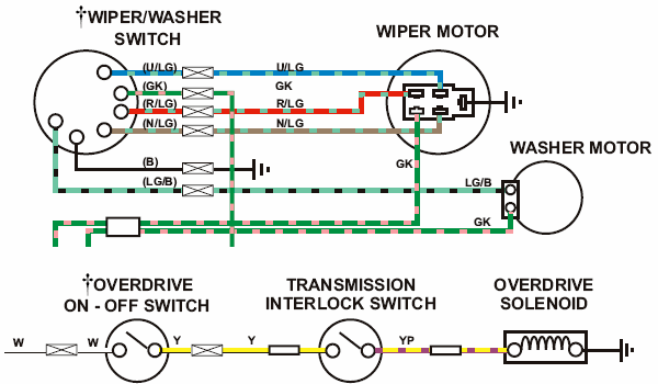 mgb wiper motor wiring diagram mgb wiring diagrams servicing the lucas wiper switch how to liry the austin