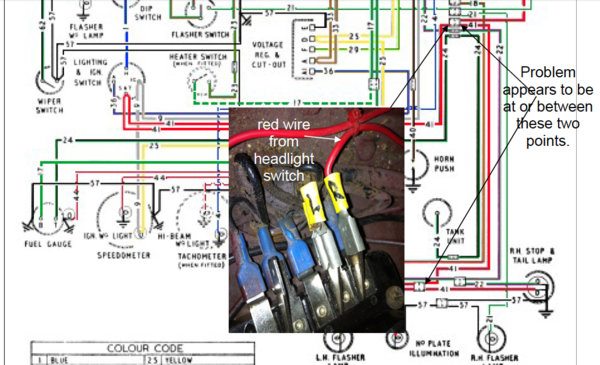 wiring_diagram_with_junction bugeye tail lights not working the sprite forum austin healey austin healey 3000 wiring diagram at alyssarenee.co