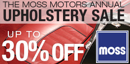Moss Motors Upholstery Sale