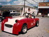 1962 Austin Healey Sprite Red Ted Morgan