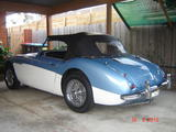 1958 Austin Healey 100 Six Blue White Adrian Anderson